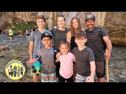 LARGE FAMILY ADVENTURE HIKING THE INSANELY BEAUTIFUL NARROWS on ROAD TRIP to  ZION NATIONAL PARK