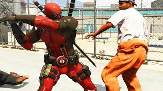 "GTA 5 Mods ""DEADPOOL VS PRISON MOD"" (GTA 5 Deadpool Mod, Prison Escape, Jailbreak, Funny Moments)"