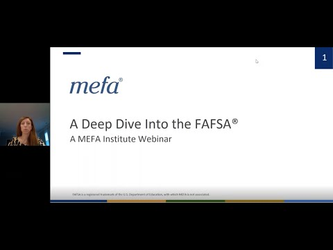 The MEFA Institute: A Deep Dive Into the FAFSA