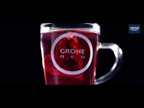 Grohe Red mono keukenkraan met c-uitloop en combi boiler supersteel