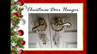 Christmas Door Hangers DIY | Dollar Tree | Home Decor
