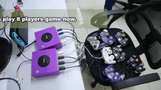 【Brook Gaming】How to use Gamecube contoller to play 8 players game in Switch