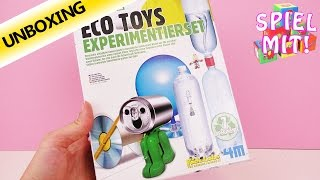Eco Sience Set Spielzeug selber machen Recycling Unboxing