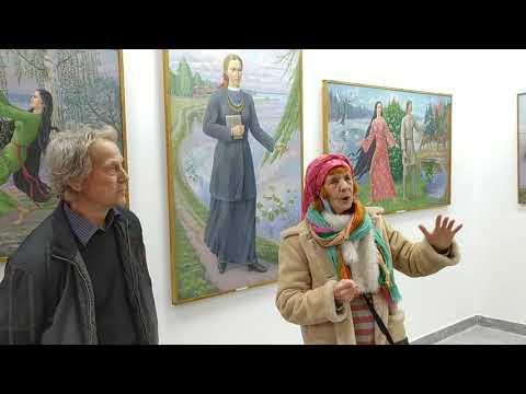 """Олена Бурдаш на виставці """"Лесиними стежками"""" в Галереї мистецтв - YouTube"""