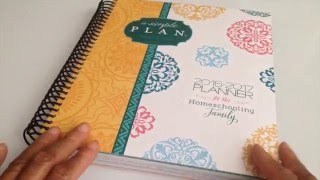 MY 2016-17 A SIMPLE PLAN HOMESCHOOLING PLANNER FROM MARDEL!!!!