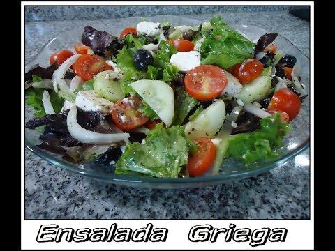 Ensalada Griega receta Mediterranea  extraordinaria