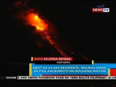BP: Abot sa 24,000 residente, inilikas dahil sa pag-aalburoto ng Bulkang Mayon