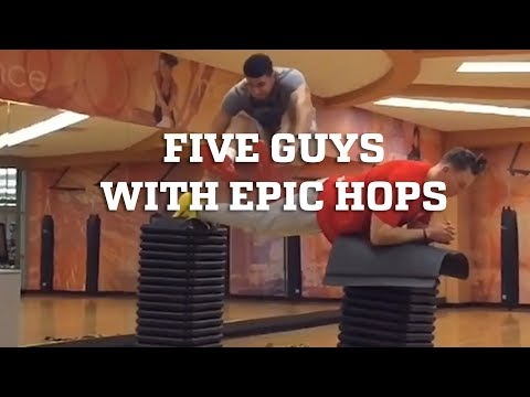 Five Guys with Epic Hops!! - Amazing High Jumps & Plyometrics