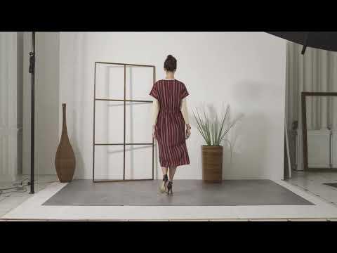 Shadow Stripe Side-tie Dress