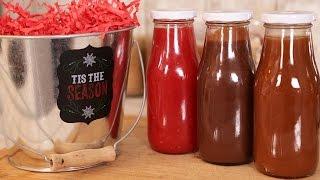 Salted Caramel, Chocolate Fudge & Raspberry Sauces | Edible Gifts