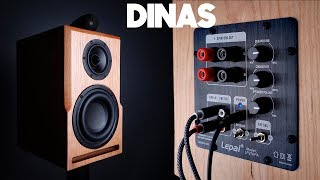 DIY Speaker With Subwoofer Hits Down To 35 Hz!   DINAS   Active Bookshelf Speakers Collab W 123Toid
