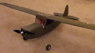 Cessna Bird Dog L-19 Made From A Plan.
