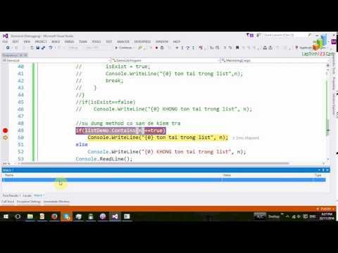 VD03 - Sử dụng List trong C#