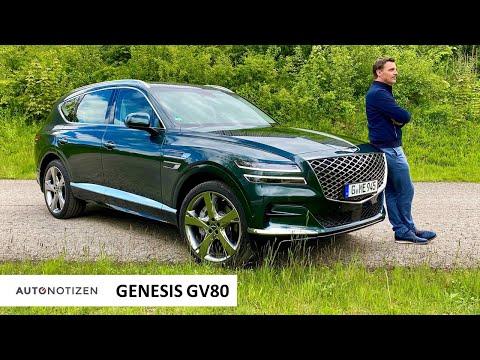 Genesis GV80: Premium-SUV mit Sechszylinder-Diesel im Test   Review   Fahrbericht   Autobahn   2021