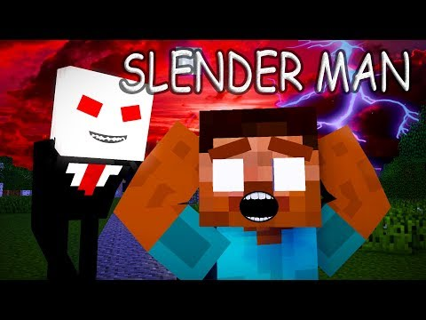 Monster School: SLENDER MAN  - Minecraft animation