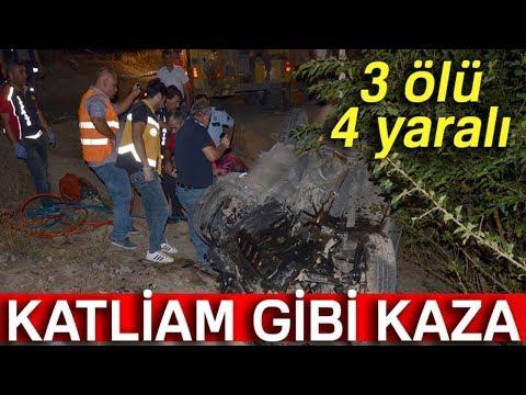 Katliam Gibi Kaza... 3 Ölü, 4 Yaralı