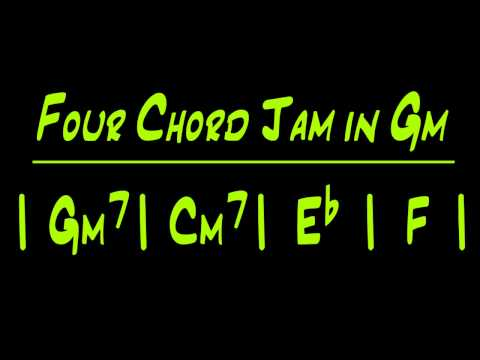 Gm Backing Track - Four Chord Jam in Gm