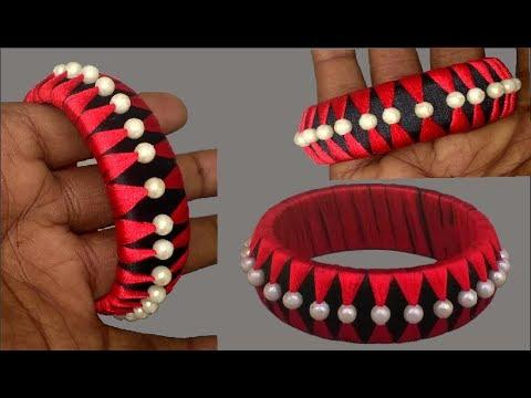 Latest Design Silk Thread Bangles - How to make Silk Thread Bangle Making at Home