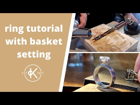 How To Make A Ring With A Pre-Made Basket Setting | 12 Months Of Metal