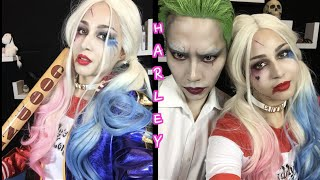 Harley Quinn Makeup-Tutorial Done by Joker