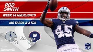 Rod Smith Breaks Off 2 TDs & 160 Yards vs. NY!   Cowboys vs. Giants   Wk 14 Player Highlights