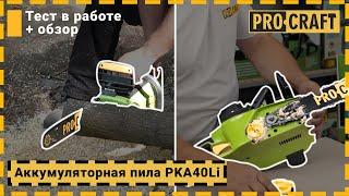 Аккумуляторная цепная пила Procraft PKA40Li