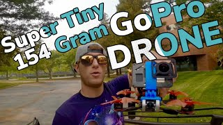 Ultimate Tiny Cinematic GoPro FPV Drone at 154 Grams AUW! GoPro 7 Lite + Armattan Tadpole