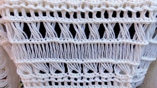 Broomstick Lace Variations 2: Striaght