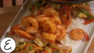 Shrimp With Rooster Sauce Over Sticky Rice - Emeril Lagasse