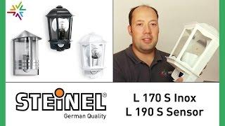 Steinel STEINEL L 170 S Inox und STEINEL L 190 S Sensor Außenleuchten [watt24-Video Nr. 107]