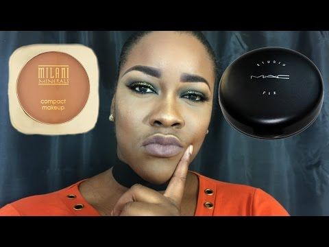 DUPE ALERT!!! MAC VS MILANI  FACE POWDER REVIEW