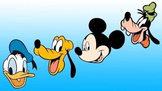Disney and friends cartoons - Donald, Mickey, Pluto and Goofy