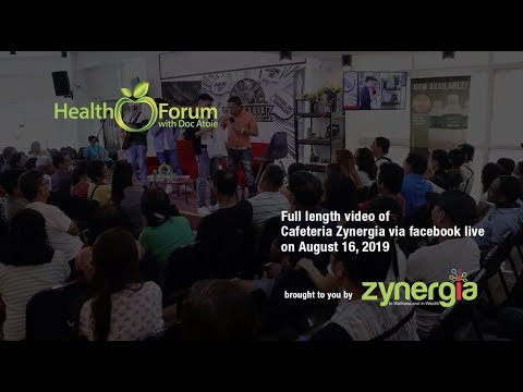 16 August 2019 | Cafeteria Zynergia via Facebook Live