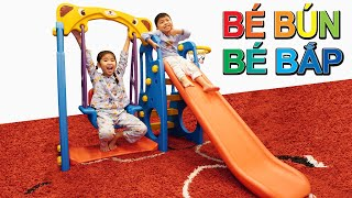 Bố Ghép Cầu Trượt ♥ Bé Bún – Bé Bắp ♥ Slide bridge assembly
