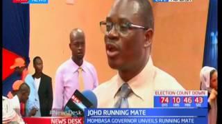Amason Kingi becomes Mombasa Governor Joho's running mate