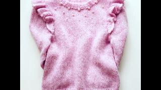 Описание вязания детского свитера с крылышками   @iiaks