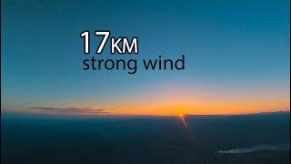 Sunset flight - 17km and back long range #fpv #wing