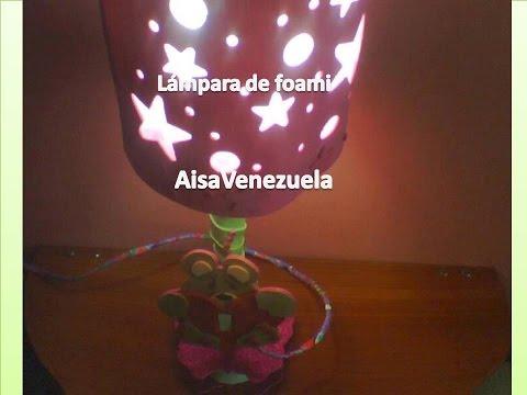 LAMPARA DE FOAMI MESITA DE NOCHE III |AisaVenezuela