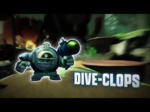 Видео № 0 из игры Фигурка Skylanders SuperChargers: Dive-Clops