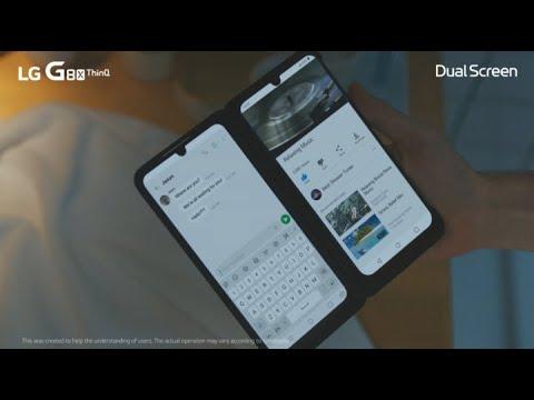 LG G8X ThinQ 6GB/128GB Single SIM kártyafüggetlen okostelefon, Black (Android) + Dual Screen