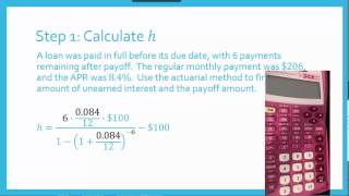 Financial Math: Actuarial Method