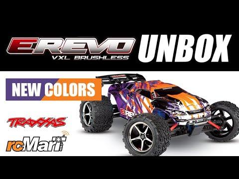 Traxxas E-Revo VXL 2.0 4WD Brushless Monster Truck – New Color Unbox!  (Blue & Purple) #86086-4