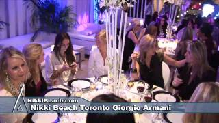 Nikki Beach Toronto Giorgio Armani 10 year anniversary dinner party