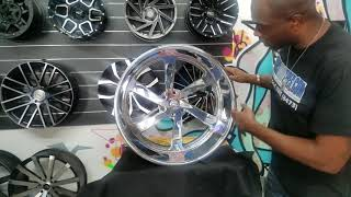 DUBSandTIRES.com 24 Inch 24x15 Intro XLR Twisted Billet Wheels Donks Chevy C10 877-544-8473