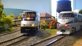 HO Amtrak California w/Soundcar & F59PHi. Plus Western trains: Amtrak Cascades, Surfliner & Sounder.