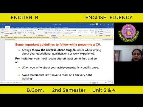 ENGLISH FLUENCY - UNIT - 3 & 4 By - REEMA DEVI