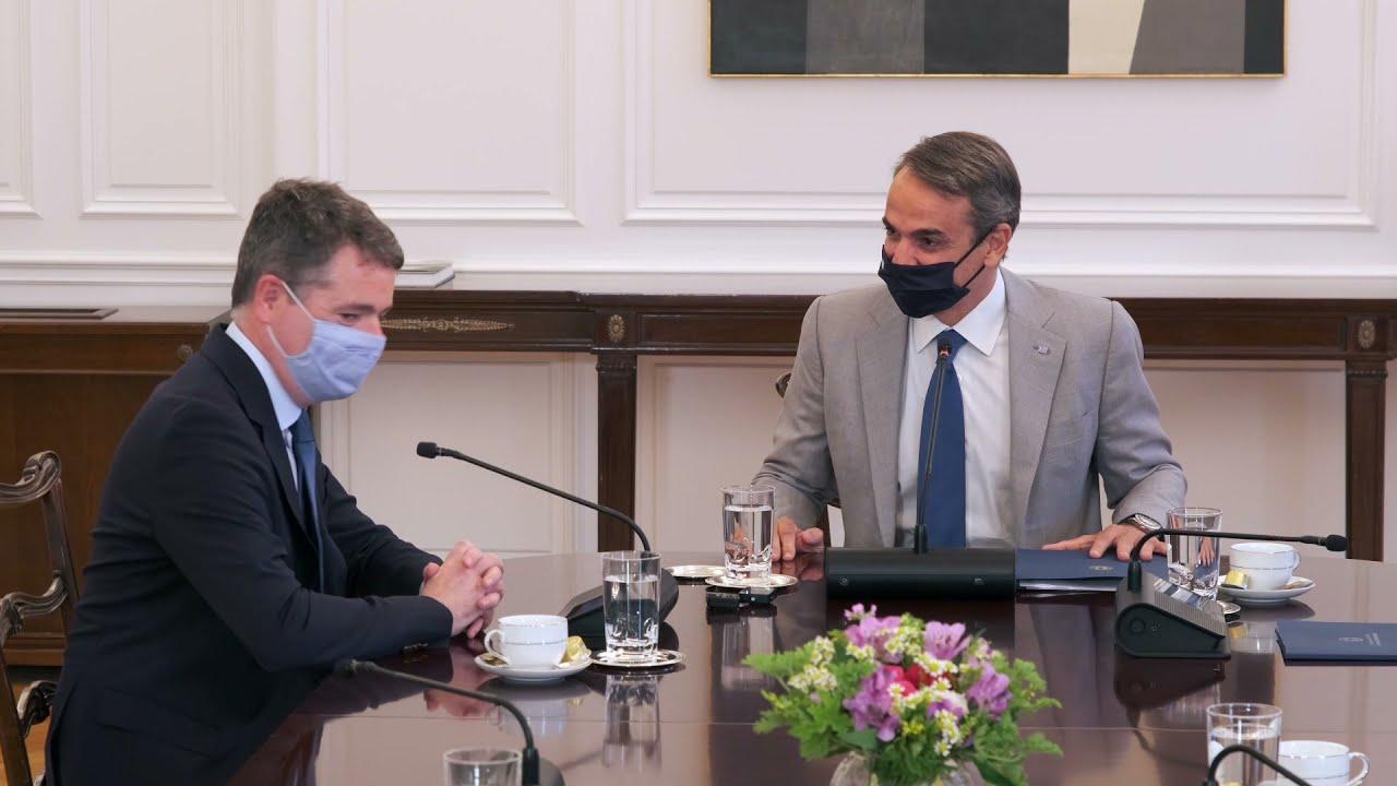 Συνάντηση του Πρωθυπουργού Κυριάκου Μητσοτάκη με τον Πρόεδρο του Eurogroup Paschal Donohoe