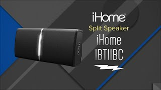 Hands On Review: iHome Split Black Bluetooth Portable Speaker System - IBT11BC