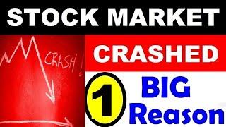 STOCK MARKET CRASH TODAY⚫SENSEX NIFTY CRASH TODAY⚫LATEST SHAREMARKET⚫WHY STOCKMARKET FALL TODAY⚫SMKC