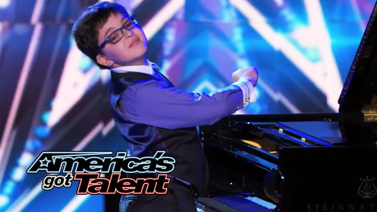Adrian Romoff: 9-Year-Old Piano Prodigy Delivers Classical Tune - America's Got Talent 2014 thumbnail
